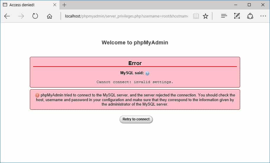 phpmyadmin-access-denied