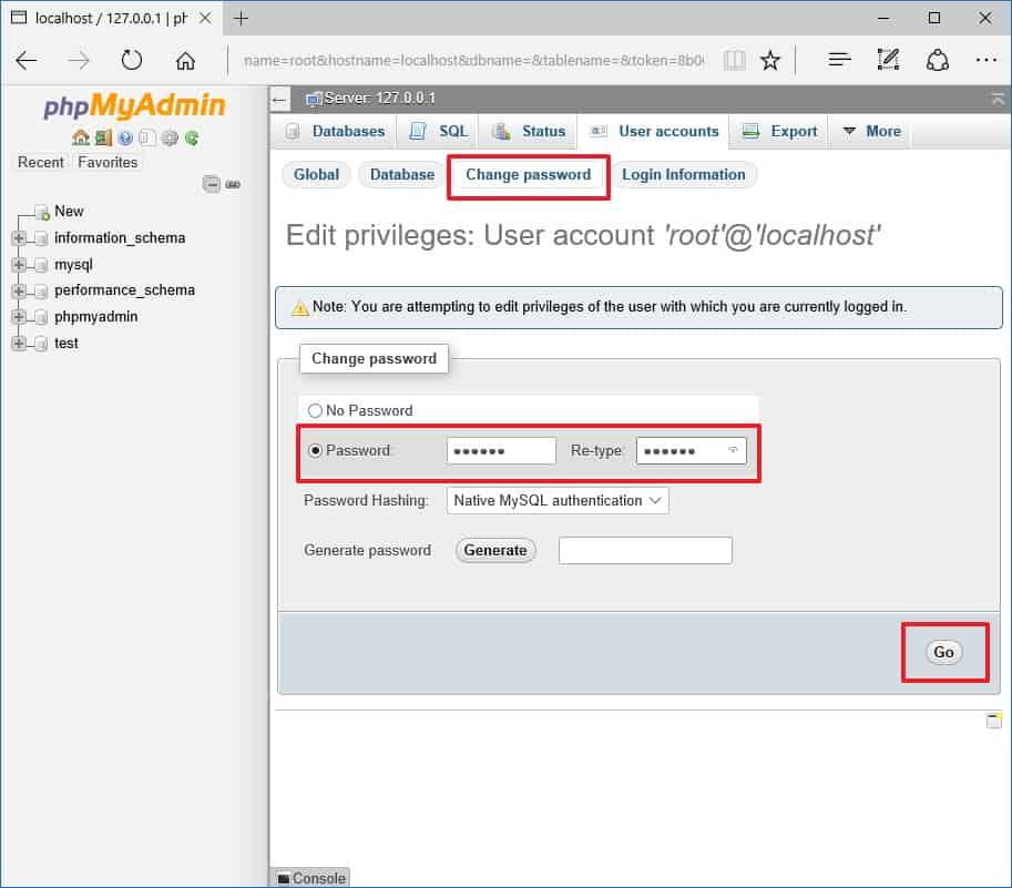 phpmyadmin-root-password